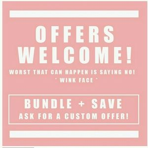 MAKE ME AN OFFER OR BUNDLE AND SAVE!!